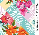 tropical floral seamless... | Shutterstock .eps vector #511996774