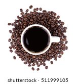 coffee and coffee beans on...   Shutterstock . vector #511999105