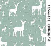 decorative reindeer vector... | Shutterstock .eps vector #511999381