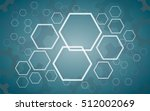 abstract hexagon and gears...   Shutterstock .eps vector #512002069