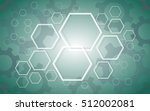 abstract hexagon and gears... | Shutterstock .eps vector #512002081