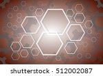 abstract hexagon and gears... | Shutterstock .eps vector #512002087