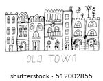 old decorative town  city view. | Shutterstock .eps vector #512002855