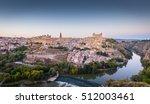 toledo  spain old town... | Shutterstock . vector #512003461
