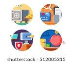 storage money in bank | Shutterstock .eps vector #512005315
