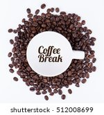 coffee mug and coffee beans. | Shutterstock . vector #512008699