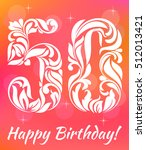 bright greeting card template.... | Shutterstock .eps vector #512013421