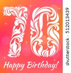 bright greeting card template.... | Shutterstock .eps vector #512013439