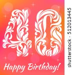 bright greeting card template.... | Shutterstock .eps vector #512013445