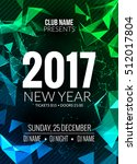 new year party design banner.... | Shutterstock .eps vector #512017804