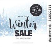 winter sale banner. vector... | Shutterstock .eps vector #512022511