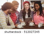 group of friends using digital... | Shutterstock . vector #512027245