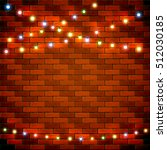 colorful christmas light on... | Shutterstock .eps vector #512030185