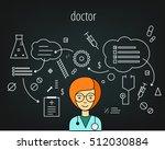 doctor vector character. board... | Shutterstock .eps vector #512030884
