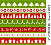 green and red christmas... | Shutterstock .eps vector #512031595