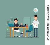 vector flat concept of... | Shutterstock .eps vector #512032051