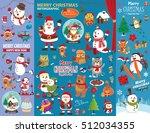 vintage christmas poster design ...   Shutterstock .eps vector #512034355