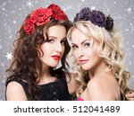 beauty portrait of couple of... | Shutterstock . vector #512041489