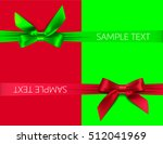 greeting card with red and... | Shutterstock .eps vector #512041969
