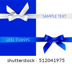 greeting card with blue and... | Shutterstock .eps vector #512041975