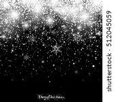 christmas snowfall. falling... | Shutterstock .eps vector #512045059