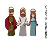 mary joseph and jesus of holy... | Shutterstock .eps vector #512052397