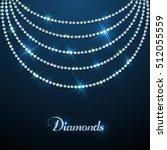 diamond sparkling beads...   Shutterstock .eps vector #512055559