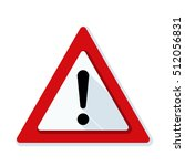 exclamation risk sign | Shutterstock . vector #512056831