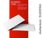 vector of business cards... | Shutterstock .eps vector #512059561