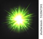 bright green  star burst.... | Shutterstock .eps vector #512067241