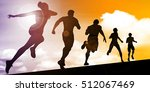 running abstract with marathon... | Shutterstock . vector #512067469