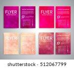 flyer design templates set a4... | Shutterstock .eps vector #512067799
