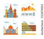 travel flat style illustration | Shutterstock .eps vector #512074021