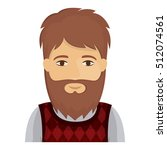 isolated man cartoon design | Shutterstock .eps vector #512074561