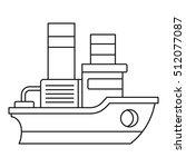 small ship icon. outline... | Shutterstock . vector #512077087