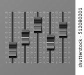 sound mixer console  dj... | Shutterstock .eps vector #512080201