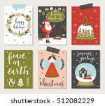 set of creative 6 journaling... | Shutterstock .eps vector #512082229