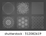 sacred geometry background set. ... | Shutterstock .eps vector #512082619