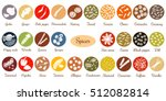 big icon set of popular... | Shutterstock .eps vector #512082814