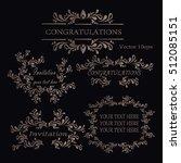 vintage frames  dividers ... | Shutterstock .eps vector #512085151