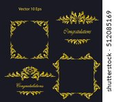 vintage frames  dividers ... | Shutterstock .eps vector #512085169