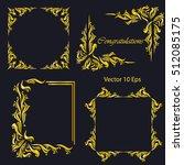 vintage frames  dividers ... | Shutterstock .eps vector #512085175