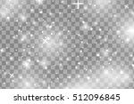 white sparks and  stars glitter ... | Shutterstock .eps vector #512096845