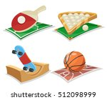 sport cartoon and isolated... | Shutterstock .eps vector #512098999