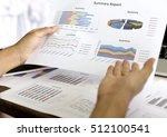 business graph information... | Shutterstock . vector #512100541