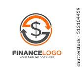 finance logo vector. describe... | Shutterstock .eps vector #512104459