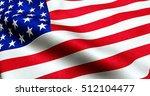 closeup of american usa flag ... | Shutterstock . vector #512104477