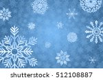 Blue winter background with snowflakes. Winter holiday and Christmas background. Vector illustration