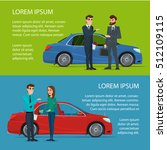 car showroom. manager sells man ... | Shutterstock .eps vector #512109115