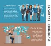 social media network concept... | Shutterstock .eps vector #512109769